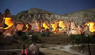 Super shock! Turkey is creating volcanic rock 3D light show