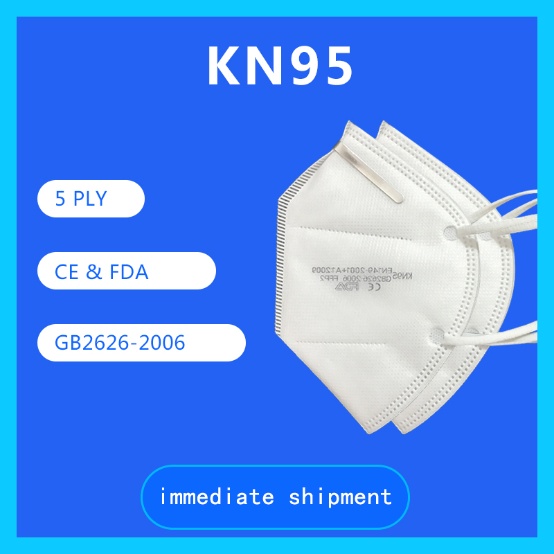 EN149 CE FDA Certificated FFP2 KN95 Face Masks for Personal Protection